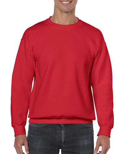 18000 Adults Basic Sweatshirt - Red