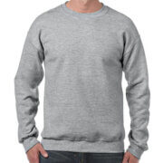18000 Adults Basic Sweatshirt - Sport Grey