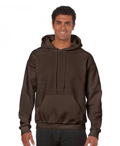 18500 Adults Hoodie - Dark Chocolate