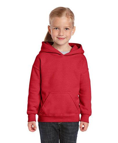 18500B Kids Basic Hoodie - Red