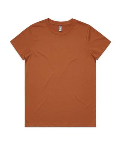 4001 Womens Maple T-shirt - Copper