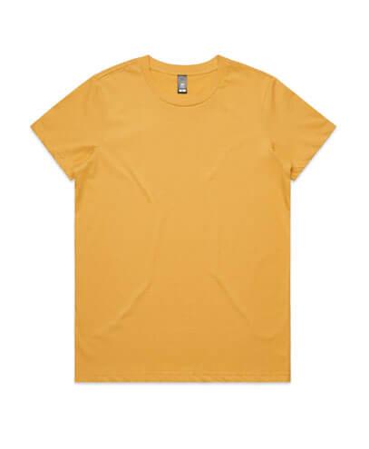 4001 Womens Maple T-shirt - Mustard
