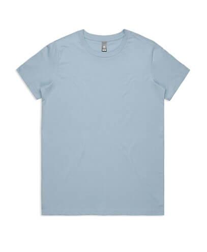 4001 Womens Maple T-shirt - Pale Blue
