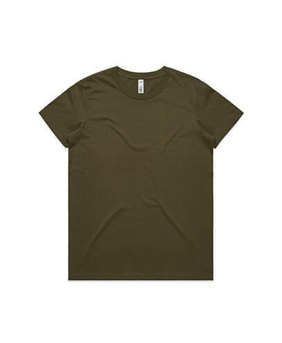 4051 Womens Basic Tee - Army