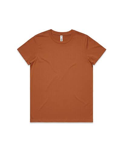 4051 Womens Basic Tee - Copper