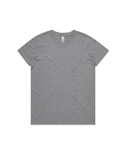 4051 Womens Basic Tee - Grey Army