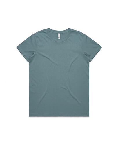 4051 Womens Basic Tee - Slate Blue