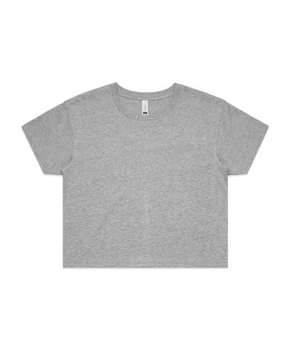 4062 Womens Crop Tee - Grey Marle