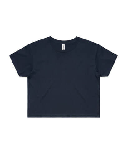 4062 Womens Crop Tee - Navy