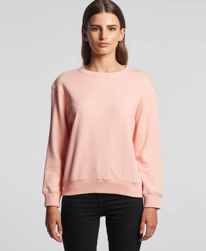 4121 Womens Premium Sweatshirt - Rose - Worn by Female Model