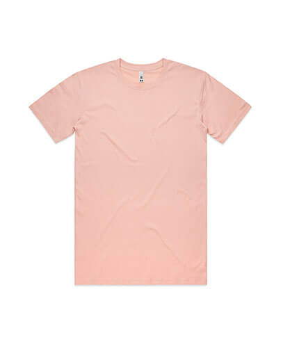 5051 Mens Basic Tee - Pale Pink