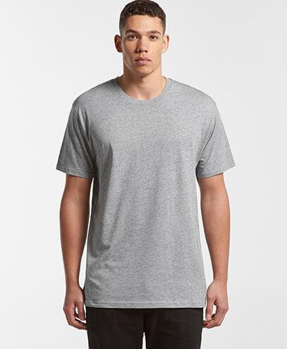 5051 Mens Basic Tee - Grey Marle
