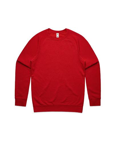 5100 Mens Supply Crew Sweatshirt - Red