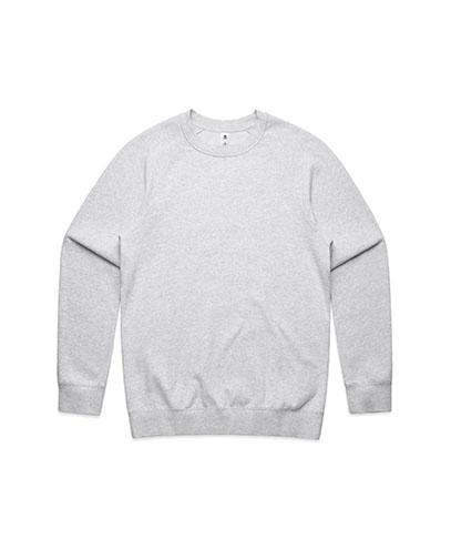 5100 Mens Supply Crew Sweatshirt - White Marle