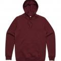 5102 Adult Stencil Hoodie - Burgundy