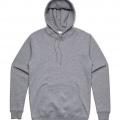 5102 Adult Stencil Hoodie - Grey Marle