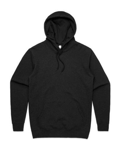 5102 Adult Stencil Hoodie - Black Marle