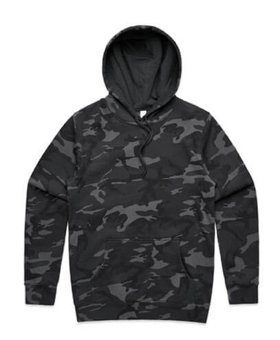 5102 Mens Stencil Hoodie - Black Camo