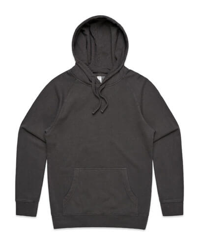 5102 Mens Stencil Hoodie - Faded Black