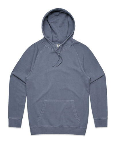 5102 Mens Stencil Hoodie - Faded Blue
