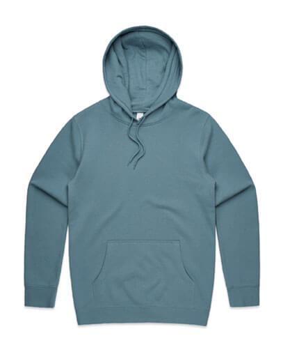 5102 Mens Stencil Hoodie - Slate Blue