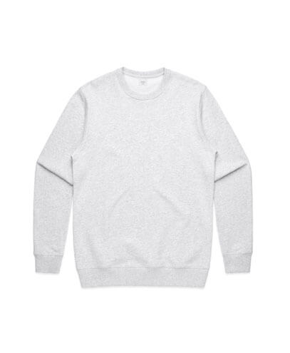 5121 Mens Premium Sweatshirt - White Marle