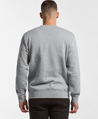 5130 Adults United Crew Neck Sweatshirt - Back View