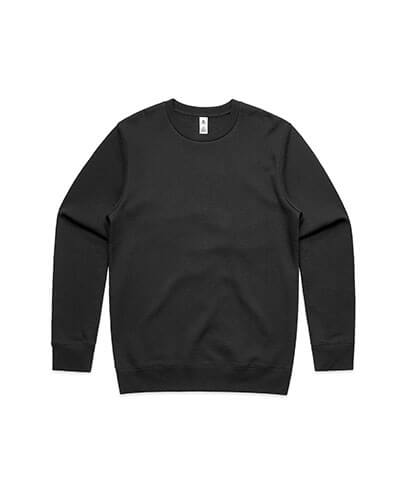 5130 Adults United Crew Neck Sweatshirt - Black