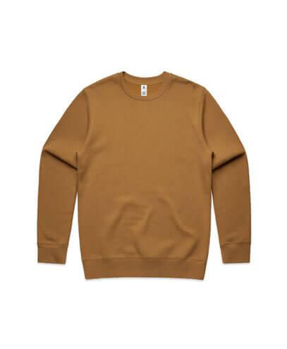 5130 Adults United Crew Neck Sweatshirt - Camel