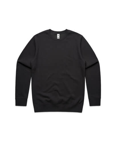 5130 Adults United Crew Neck Sweatshirt - Coal
