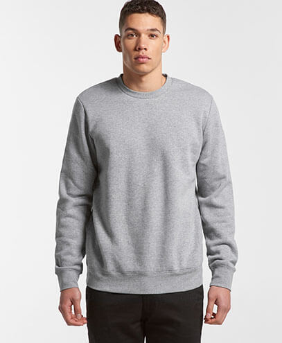 5130 Adults United Crew Neck Sweatshirt - Worn by Male Model