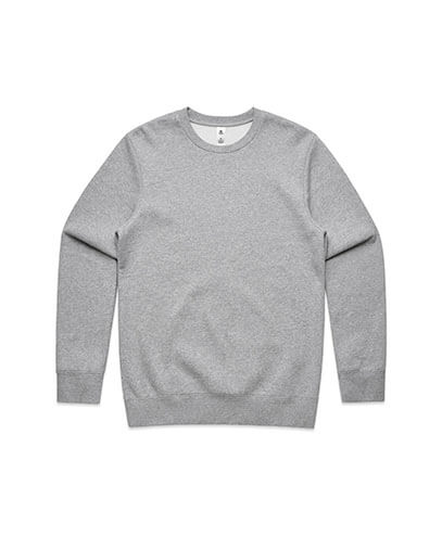 5130 Adults United Crew Neck Sweatshirt - Grey Marle