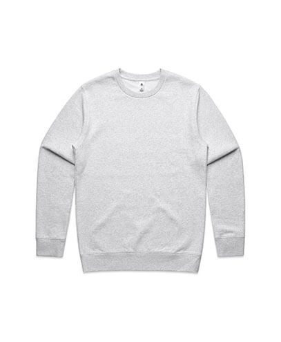 5130 Adults United Crew Neck Sweatshirt - White Marle