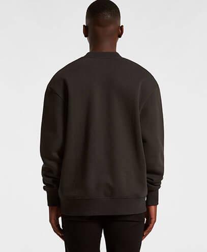 5145 Mens Heavy Crew Sweatshirt - Back View
