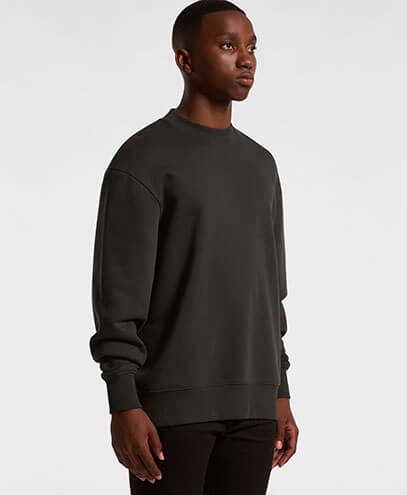 5145 Mens Heavy Crew Sweatshirt - Worn by Male Model