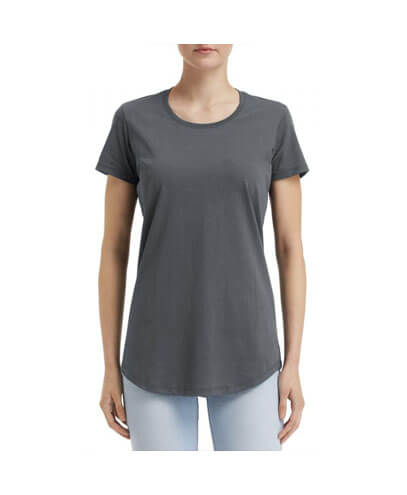 790L Anvil Women Urban Tee - Heather Dark Grey