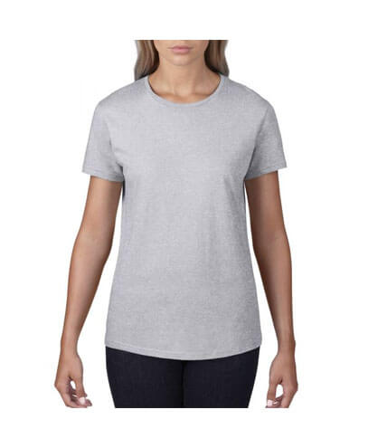 790L Anvil Women Urban Tee - Heather Grey