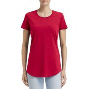 790L Anvil Women Black Tee - Red