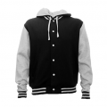 HLM Adults Hooded Letterman - Black