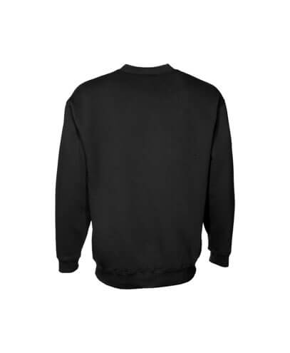 CSI Adults Crew Neck Sweatshirt - Black - Back View