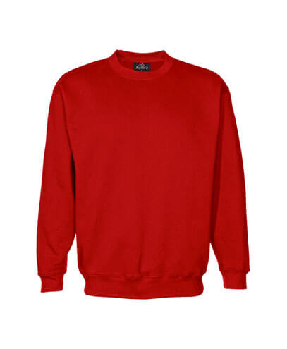 CSI Adults Crew Neck Sweatshirt - Red