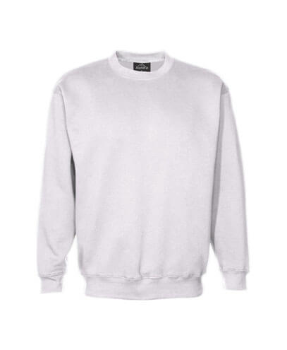 CSI Adults Crew Neck Sweatshirt - White