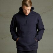 HHI Adults 400 GSM Pullover Hoodie - Navy on Male Model