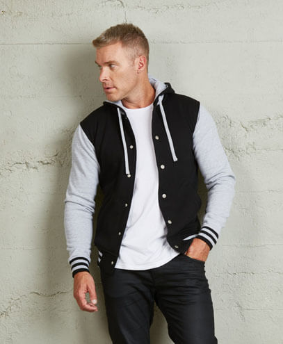 HLM Adults Hooded Letterman - Worn