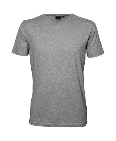 T101 Mens Outline Tee - Grey Marle