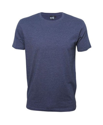 T101 Mens Outline Tee - Denim Marle