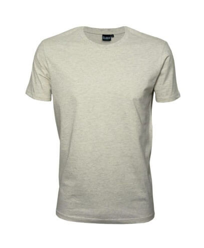 T101 Mens Outline Tee - Oatmeal Marle