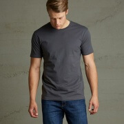 T101 Mens Outline Tee - Charcoal
