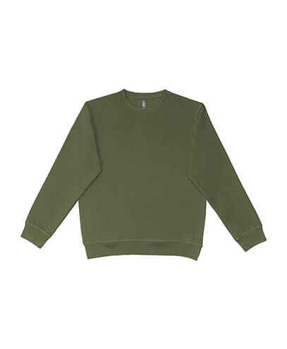 UCC320 Adults Broad Crew Sweatshirt - Military Green