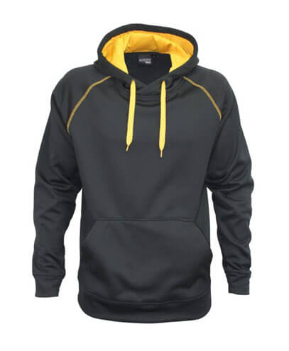 XTH Adults Performance Hoodie - Black/Gold